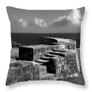 Old Fort Steps 2 Throw Pillow