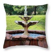 Old Fountain Throw Pillow