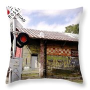 Old Freight Depot Perry Fl. Built In 1910 Throw Pillow