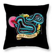 Old Friend Red-sided Gartersnake Throw Pillow