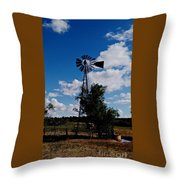 Windmill Color  Throw Pillow