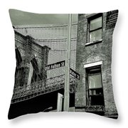 Old Fulton And Water Streets 2 Throw Pillow