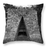 Old Furnace Throw Pillow