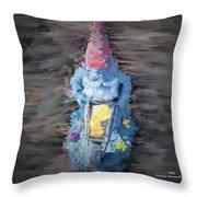 Old Garden Gnome Throw Pillow