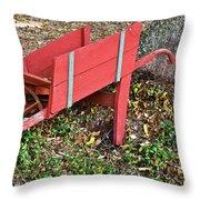 Old Garden Wheel Barrow Throw Pillow