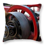 Old Gas Engine With Digital Effects Throw Pillow