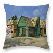 Old Gas Station Route 66 Cuba Mo Dsc05559 Throw Pillow