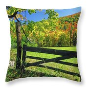 Old Gate At East Orange Throw Pillow