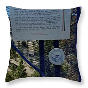 Old Geiger Grade Nevada Throw Pillow