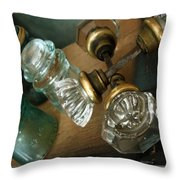 Old Glass Throw Pillow by Delight Worthyn