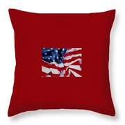 Old Glory  1 Throw Pillow