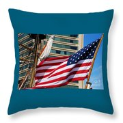 Old Glory In Baltimore Throw Pillow
