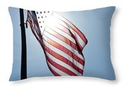 Old Glory - Long May She Wave Throw Pillow