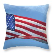 Old Glory Never Fades Throw Pillow