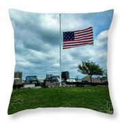 Old Glory Over Baltimore Throw Pillow