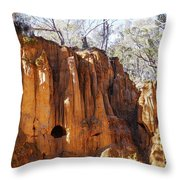 Old Gold Mine Shafts Throw Pillow