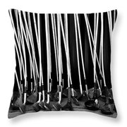 Old Golf Clubs Throw Pillow