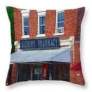 Old Guerins Pharmacy Throw Pillow