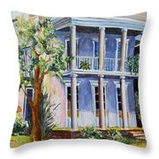 Old Gulf Coast Home Throw Pillow