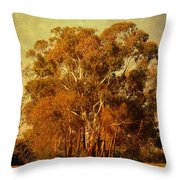 Old Gum Tree Throw Pillow