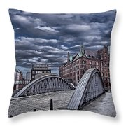 Old Hamburg Throw Pillow