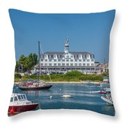 Old Harbor View Throw Pillow