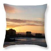 Old Harbour Of Kemi Throw Pillow