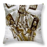Old Hardware Upgrade Throw Pillow