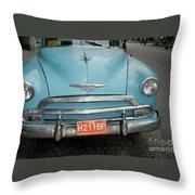 Old Havana Cab Throw Pillow