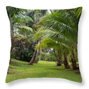 Old Hawaiian Garden Throw Pillow