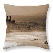 Old Hermosa Beach Throw Pillow