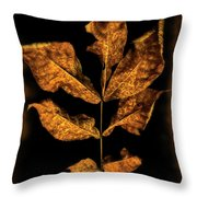 Old Hickory Leaf Throw Pillow