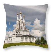 Old Hodegetria Church In Vyazma Throw Pillow