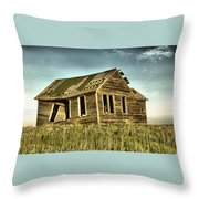 Old Home Falling In Throw Pillow