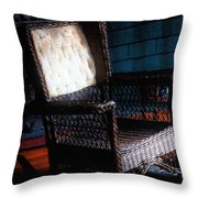 Old Homestead Sunset Throw Pillow