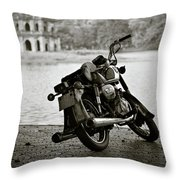 Old Honda In Hanoi Throw Pillow