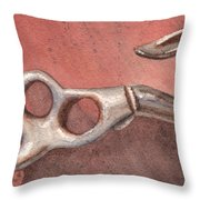 Old Hook Throw Pillow