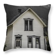 Old House And Dandelions Throw Pillow