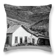 Old House And Foothills Throw Pillow