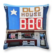 Old House Bbq Throw Pillow