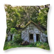Old House Blues Throw Pillow