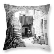 Old House Court Throw Pillow