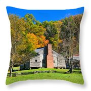 Old House In Cades Cove Tn Throw Pillow