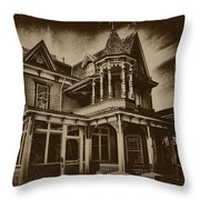 Old House In Cape May Throw Pillow