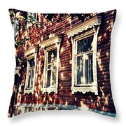 Old House In Moscow Throw Pillow