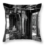 Old House Interior Construction Throw Pillow