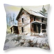 Old House Marysville Ghosttown Montana Throw Pillow
