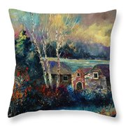 Old Houses In Hour Throw Pillow