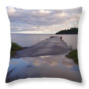 Old Hovland Dock After The Storm Throw Pillow