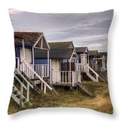 Beach Huts At Old Hunstanton Throw Pillow